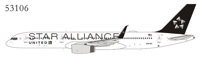 United Airlines 757-200 N14120 Star Alliance, upgraded wing (1:400)