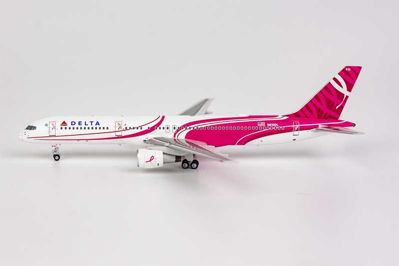 Delta Air Lines 757-200 N610DL Special Song Paint Scheme for Breast Cancer Awareness (1:400)