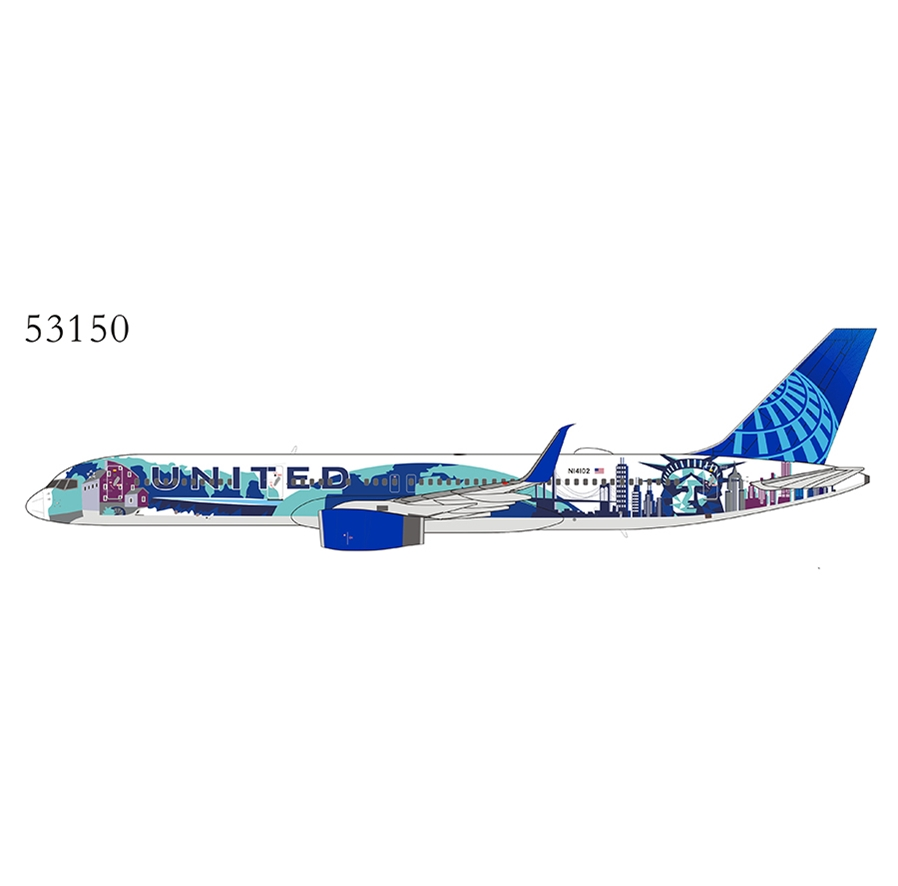 United Airlines 757-200/w N14102 2019s New Colors (Her Art Here - New York / New Jersey special sheme) with upgraded winglets (1:400)