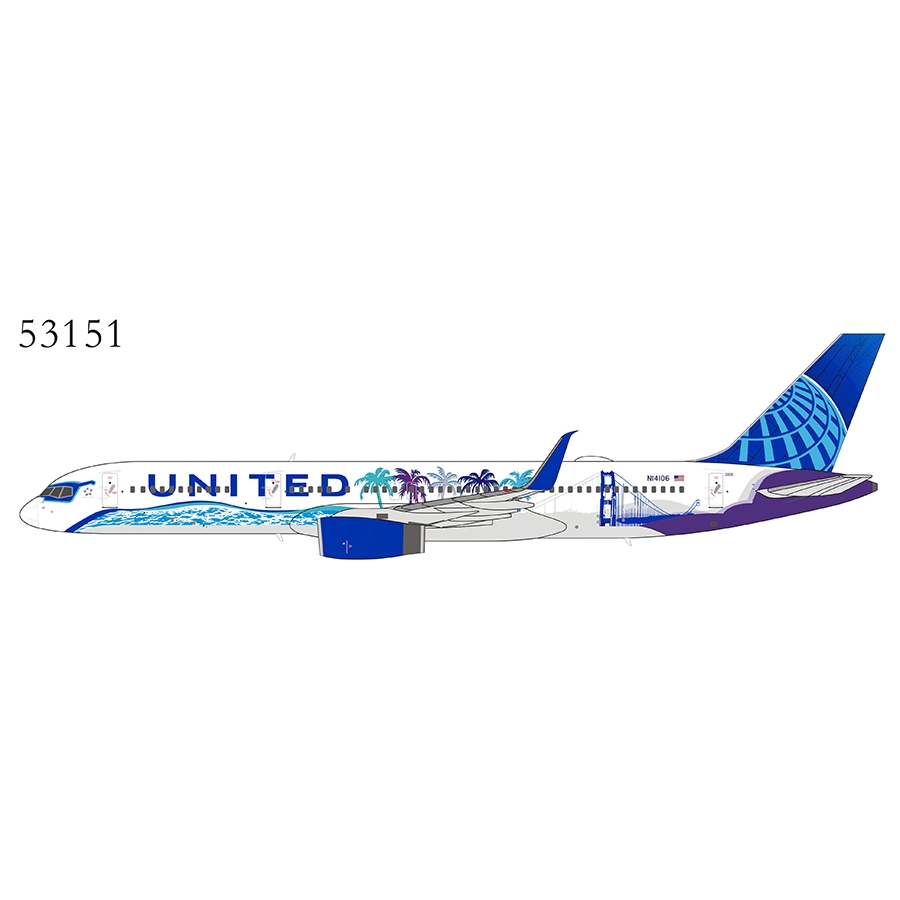 United Airlines 757-200/w N14106 2019s New Colors (Her Art Here - California special sheme) with upgraded winglets (1:400)
