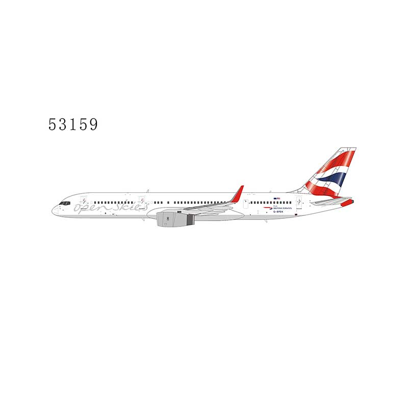 "British Airways 757-200 winglets G-BPEK Open Skies ""grey font"" (1:400)"