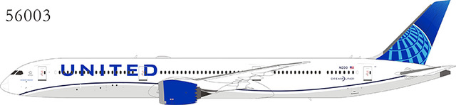 United Airlines 787-10 Dreamliner N12010, 2019 new colors (1:400)