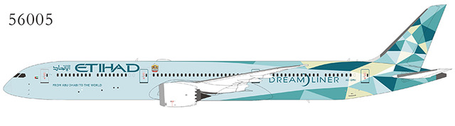"""Etihad Airways 787-10 Dreamliner A6-BMH 2020 New Colors """"Greenliner"""" livery (1:400)"""