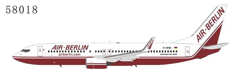 Air Berlin 737-800 with Winglets D-ABBA Late 1990s Colors (1:400)