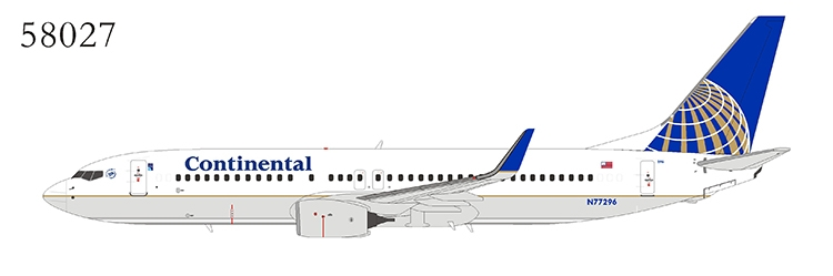 Continental Airlines 737-800/w N77296 with skyteam logo (1:400)