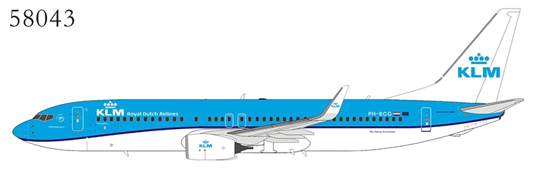 KLM - Royal Dutch Airlines 737-800/w PH-BCG n/c (1:400)