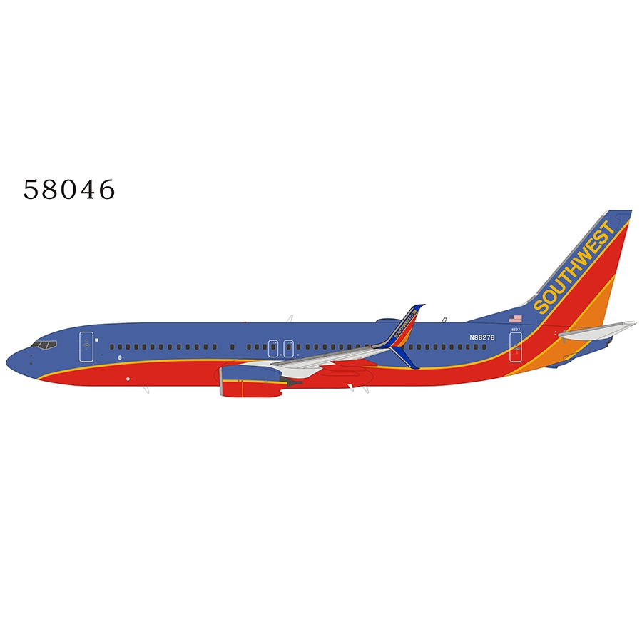 Southwest Airlines 737-800/w N8627B Canyon Blue livery with scimitar winglets (1:400)