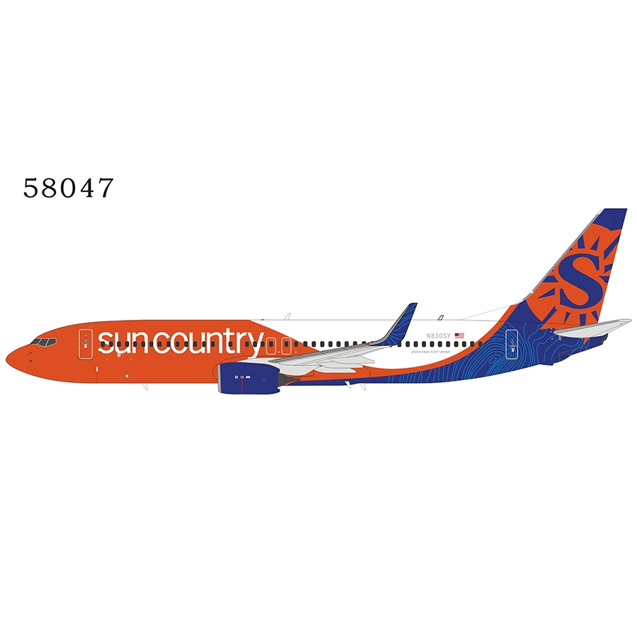 Sun Country Airlines 737-800/w N830SY n/c (1:400)