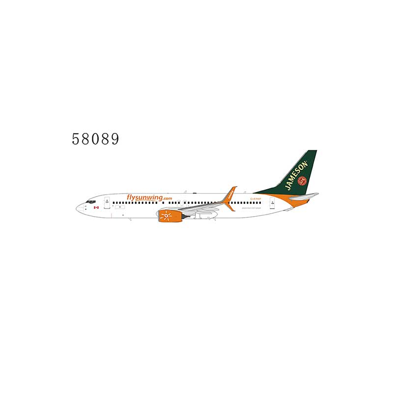 """Sunwing Airlines 737-800 Scimitar Winglets C-FPRP New Colors """"Jameson whiskey livery""""(1:400)"""
