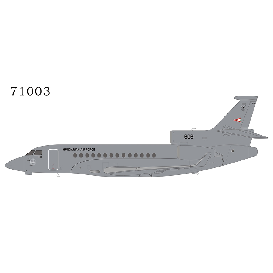 Hungarian Air Force Falcon 7X 606 (1:200)