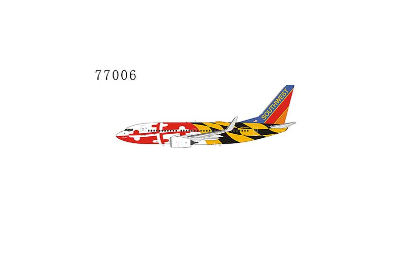 Southwest Airlines 737-700 with Winglets N214WN Maryland One Livery with Canyon Blue tail (1:400)