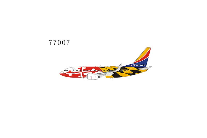 Southwest Airlines 737-700 with Winglets N214WN Maryland One livery with Heart One tail (1:400)