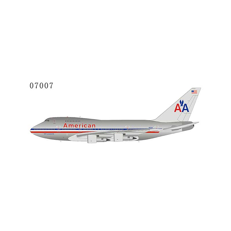 "American Airlines 747SP N601AA with ""747 LuxuryLiner"" titles 1:400"