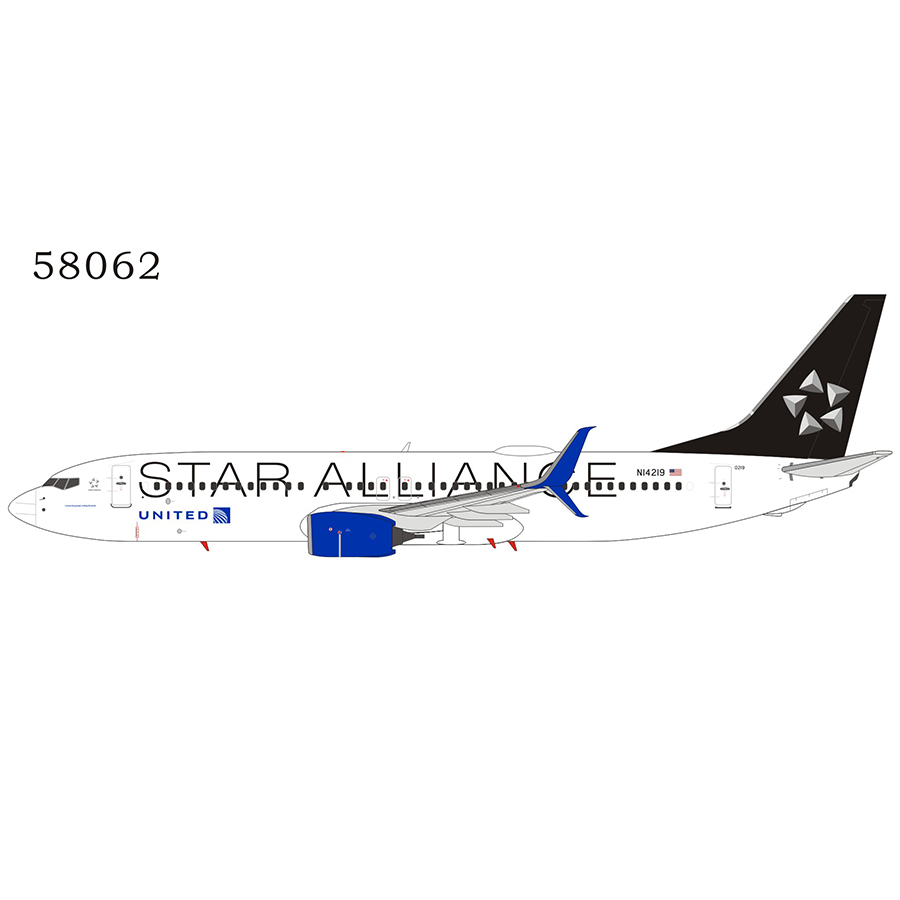United Airlines 737-800/w N14219 Star Alliance; with scimitar winglets (1:400)