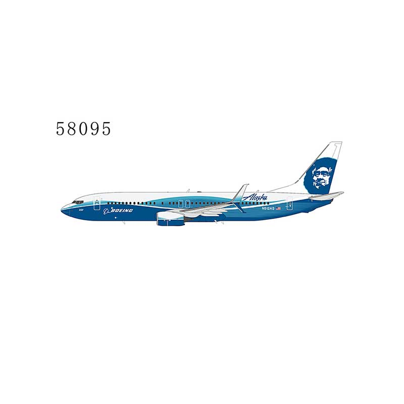Alaska Airlines 737-800/w N512AS Spirit of Seattle; with scimitar winglets 1:400