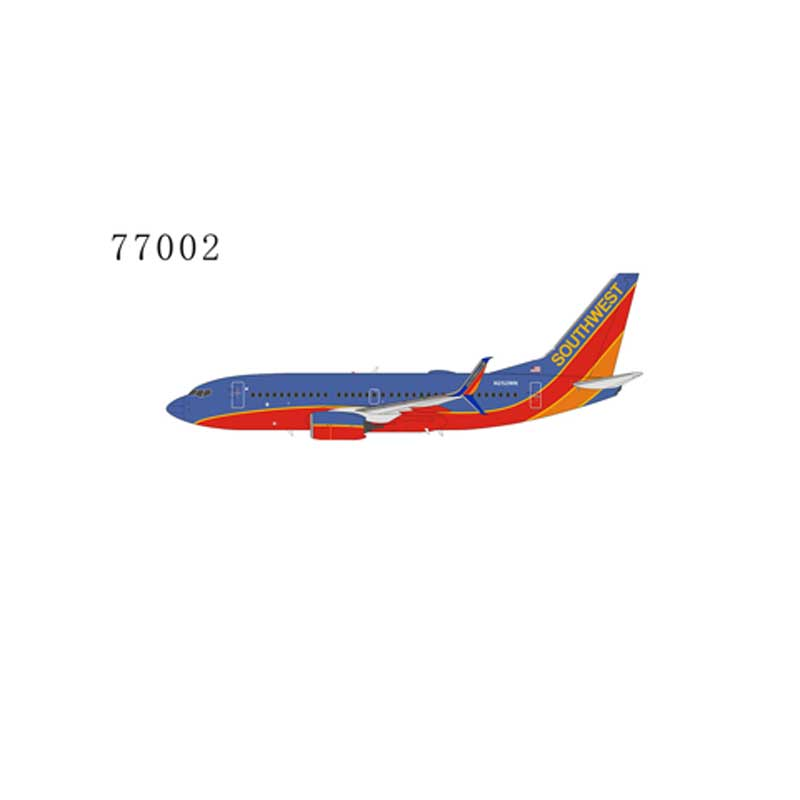"Southwest Airlines 737-700 winglets N252WN ""Canyon Blue livery"" with scimitar winglets (1:400)"