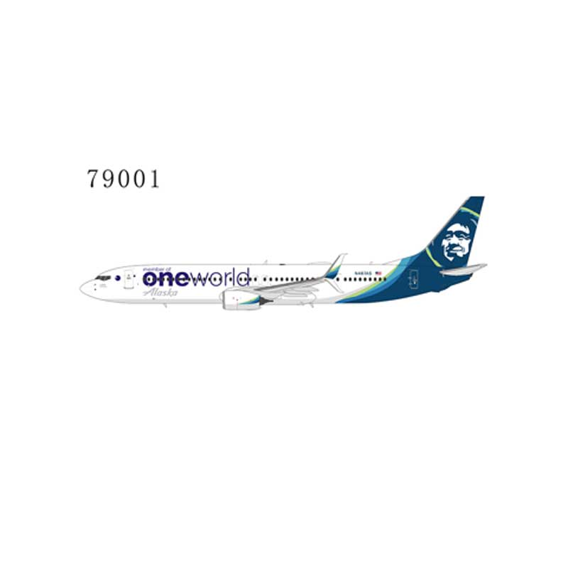 "Alaska Airlines 737-900ER/w N487AS ""One World "" with scimitar winglets (1:400)"