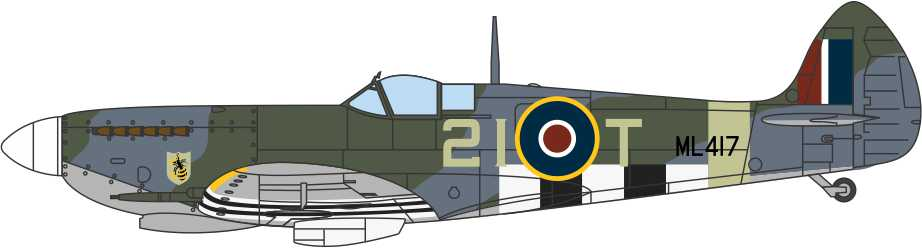 Supermarine Spitfire Mk.IXe 443 Squadron, Royal Canadian Air Force, 1944 (1:72)