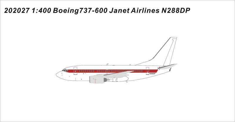 "EG&G ""Janet"" 737-600 N288DP (1:400)"