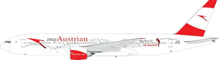 "Austrian B777-200ER ""My Sound of Austria"" OE-LPD (1:400)"