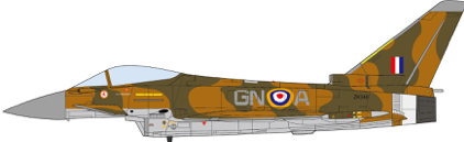 EuroFighter EF-2000 Typhoon Royal Air Force, No. 29(R) Squadron, 75th Anniversary of the Battle of Britain, 2015 (1:72)