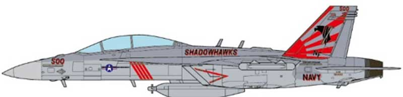 EA-18G Growler VAQ-141 Shadowhawks, USS Ronald Reagan, 2017 (1:72)