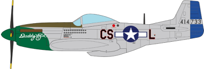 P-51D Mustang Raymond S. Wetmore U.S. Army Air Forces 370th FS, 359th FG, 8th AF, 1945 (1:72)