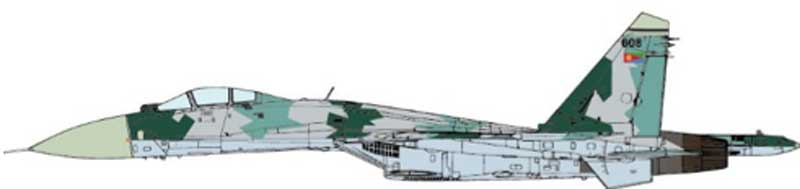 SU-27 Flanker Eritrean Air Force, 2010 (1:72)