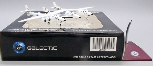 """Virgin Galactic White Knight Two with Spaceship Two N348MS """"Old Livery"""" (1:200 Scale)"""