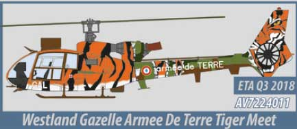 Westland Gazelle, Armee de Terre (1:72) - Preorder item, order now for future delivery