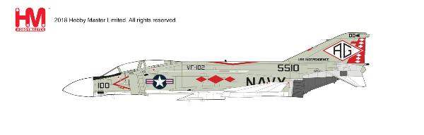 F-4J Phantom II Die Cast Model, VF-102 Diamondbacks, USS Independence (CV-64) , 1976 (1:72)