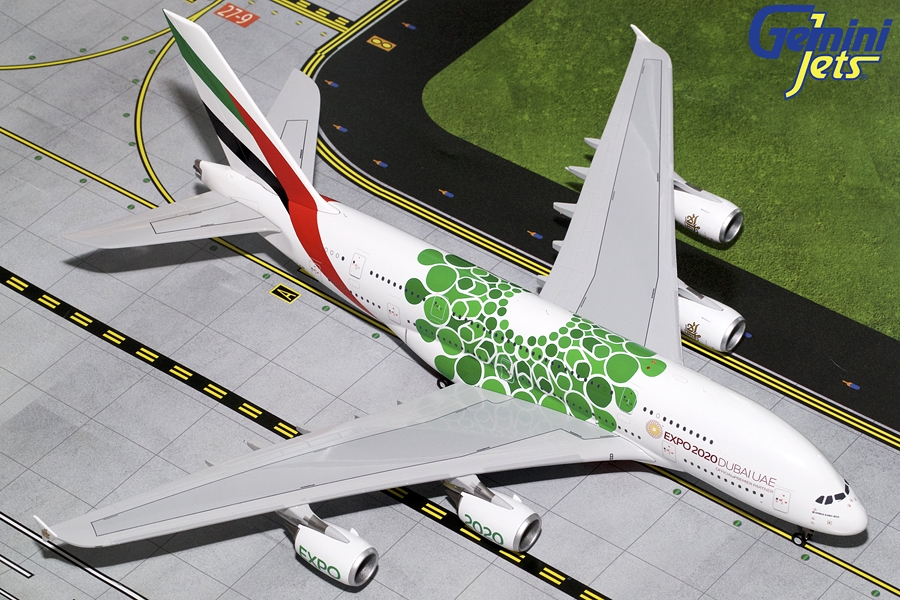 Emirates A380-800 (Green Expo 2020) A6-EEW (1:200)