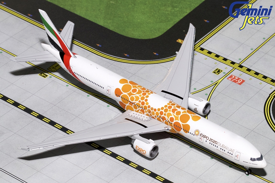 Emirates B777-300ER (Orange Expo 2020) A6-EPO (1:400)