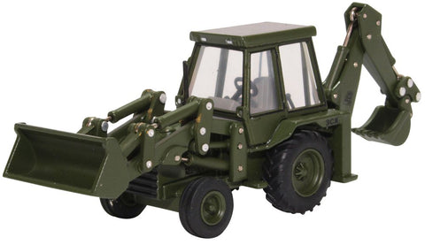 JCB 3CX Backhoe Loader, British Royal Army, 1980s (1:76 OO Scale)