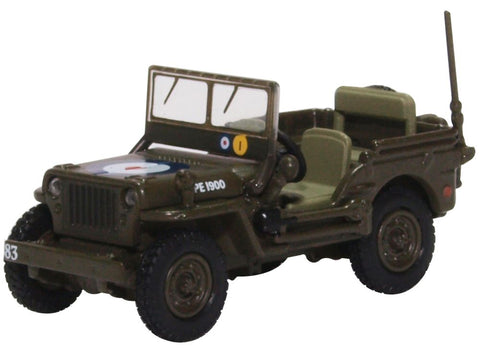 """Willys MB """"Jeep"""", 83 Group, 2nd Tactical Air Force, RAF, 1944-45 (1:76 OO Scale)"""