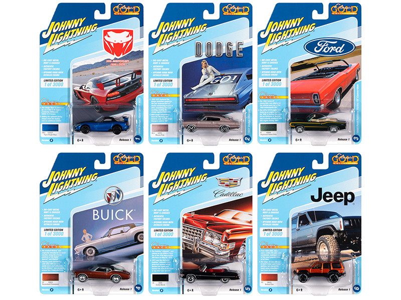 Classic Gold 2020 Release 1, Set B of 6 Cars Limited Edition to 3,000 pieces Worldwide 1/64