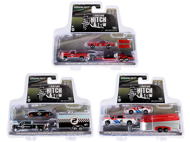 Racing Hitch & Tow Series 2, Set of 3 pieces 1/64