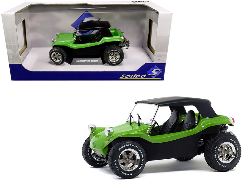 Meyers Manx Buggy Green Metallic with Black Soft Top 1/18
