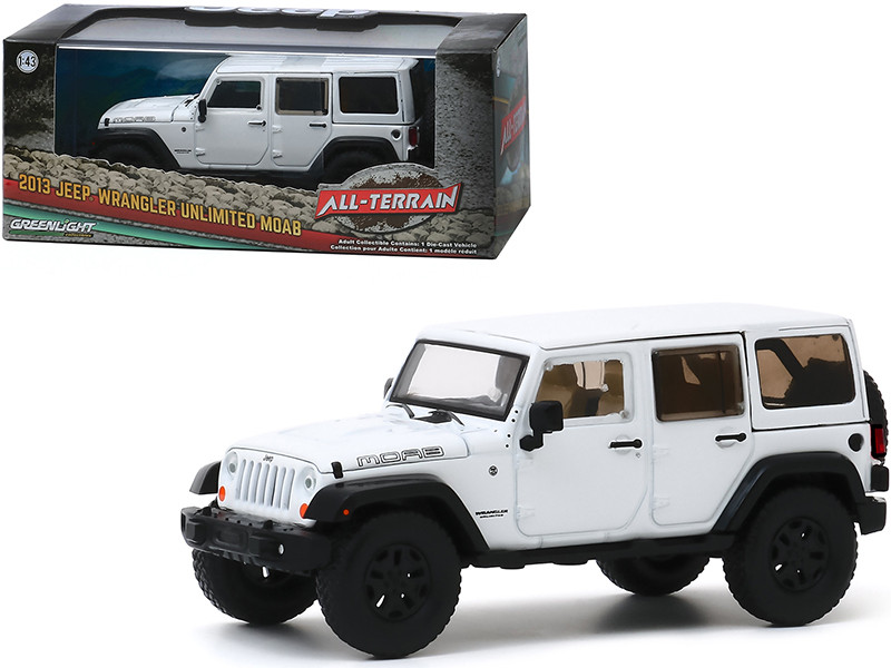 """2013 Jeep Wrangler Unlimited Moab Bright White """"All-Terrain"""" Series 1/43"""