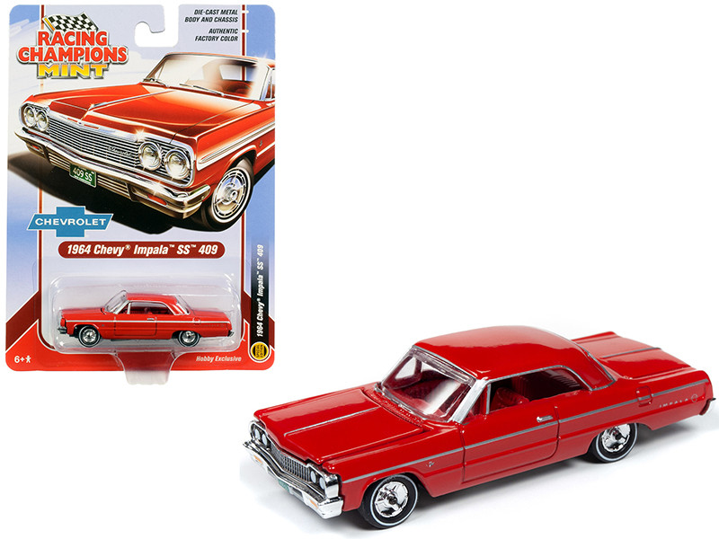 1964 Chevrolet Impala SS 409 Hardtop Riverside Red with Red Interior 1/64