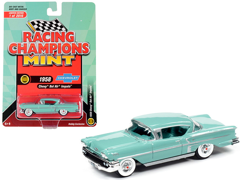 1958 Chevrolet Bel Air Impala Hardtop Glen Green Limited Edition to 2,016 pieces Worldwide 1/64