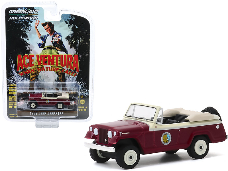 """1967 Jeep Jeepster Convertible """"Ace Ventura: When Nature Calls"""" (1995) Movie """"Hollywood Series"""" Release 28 1/64"""