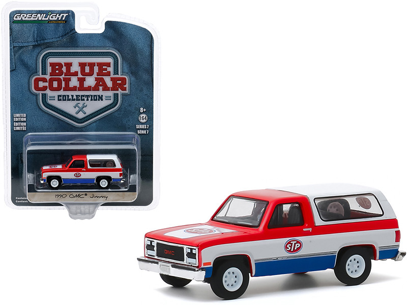 """1990 GMC Jimmy """"STP"""" Red and White with Blue Bottom """"Blue Collar Collection"""" Series 7 1/64"""