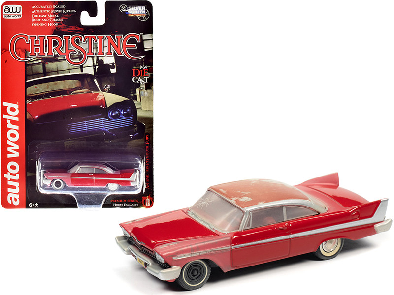"""1958 Plymouth Fury Red (Partially Restored) """"Christine"""" (1983) Movie 1/64"""