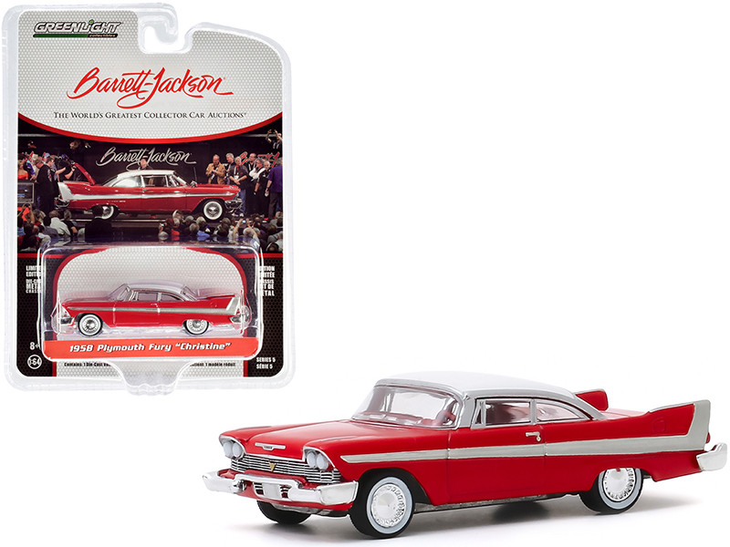 """1958 Plymouth Fury """"Christine"""" Red with White Top (Lot #2006) Barrett Jackson """"Scottsdale Edition"""" Series 5 1/64"""