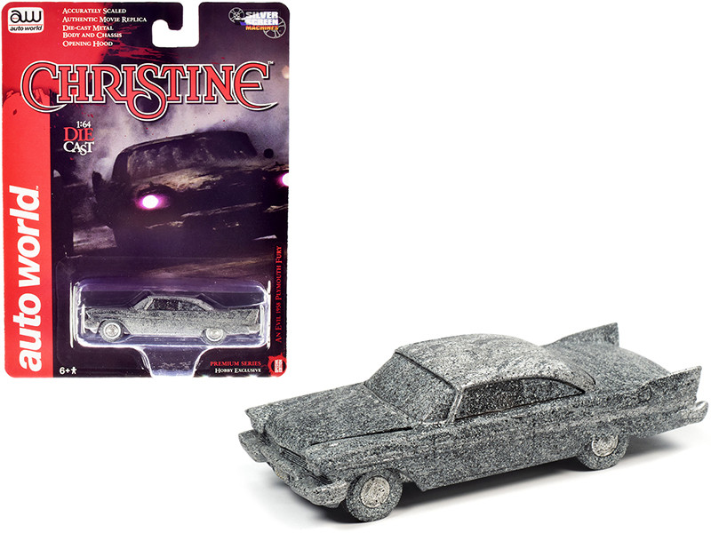"""1958 Plymouth Fury (An Evil) After Fire Version """"Christine"""" (1983) Movie 1/64"""