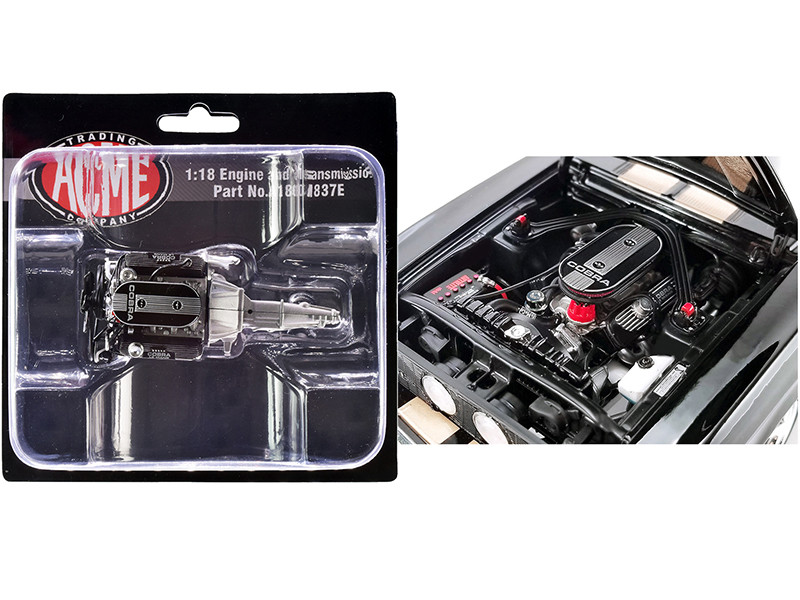 """Engine and Transmission 428 Cobra Replica from """"1967 Ford Mustang Shelby GT500"""" 1/18"""