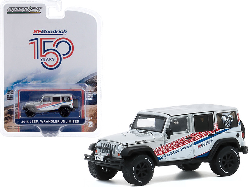 """2015 Jeep Wrangler Unlimited White """"BFGoodrich 150th Anniversary"""" """"Anniversary Collection"""" Series 11 1/64"""