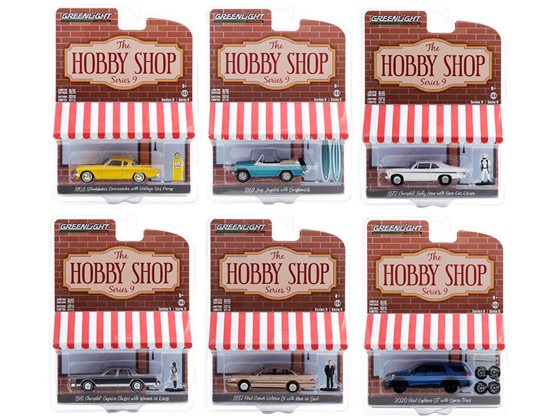 The Hobby Shop Set of 6 pieces Series 9 1/64