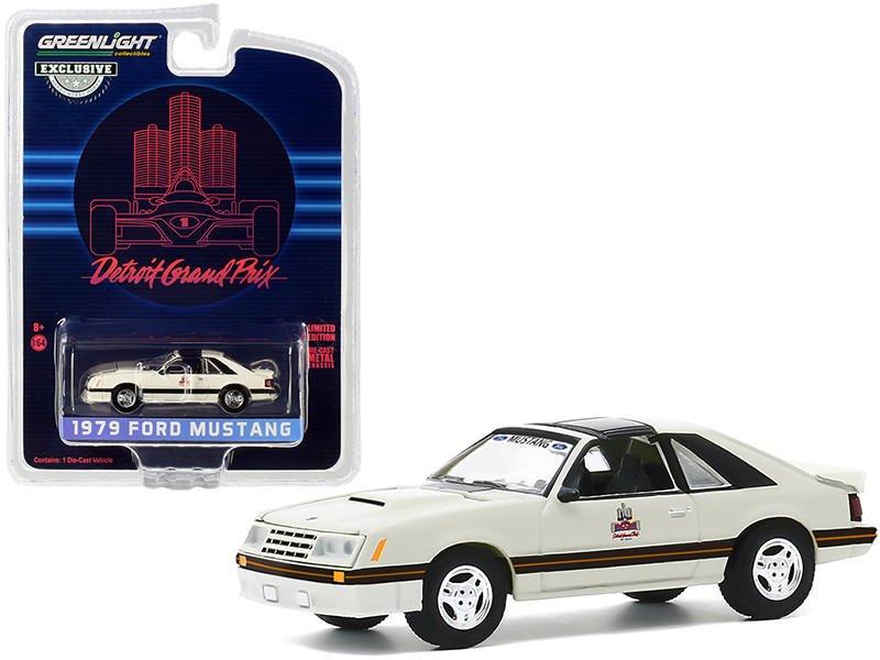 """1979 Ford Mustang Official Pace Car """"1982 Detroit Grand Prix"""" """"Hobby Exclusive"""" 1/64"""